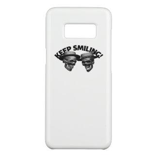 Capa Case-Mate Samsung Galaxy S8 Dois crânios mantêm-se sorrir