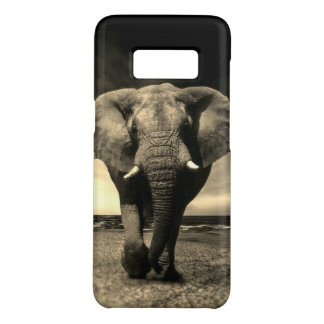 Capa Case-Mate Samsung Galaxy S8 Elefante de Bull selvagem majestoso no Sepia