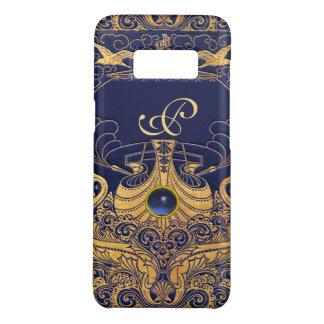 Capa Case-Mate Samsung Galaxy S8 Embarcação antiga, golfinhos, ouro, monograma dos