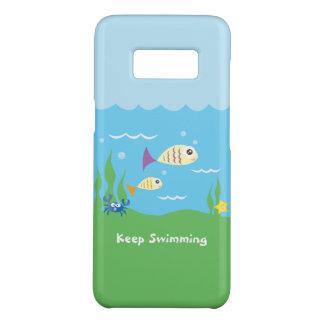 Capa Case-Mate Samsung Galaxy S8 Engraçado apenas mantenha nadar peixes