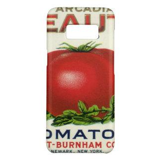 Capa Case-Mate Samsung Galaxy S8 Etiqueta da caixa da fruta do vintage, tomates da