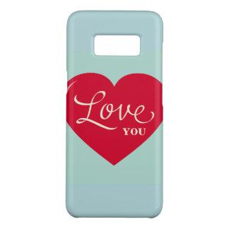 Capa Case-Mate Samsung Galaxy S8 Eu te amo