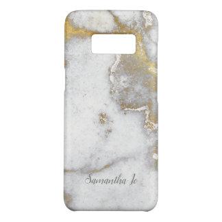 Capa Case-Mate Samsung Galaxy S8 Exemplo de mármore moderno de Samsung do ouro e