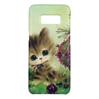 Capa Case-Mate Samsung Galaxy S8 Exemplo retro de Samsung S8 do gato do natal