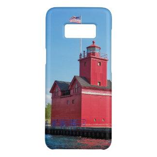 Capa Case-Mate Samsung Galaxy S8 Farol vermelho grande no porto