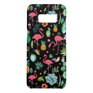 Capa Case-Mate Samsung Galaxy S8 Flamingos cor-de-rosa & flores & Succulents