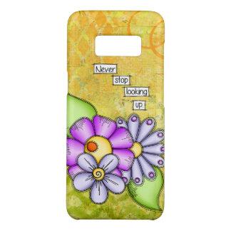 Capa Case-Mate Samsung Galaxy S8 Flor positiva do Doodle do pensamento do prazer da