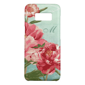 Capa Case-Mate Samsung Galaxy S8 Flor retro bonito no pássaro cor-de-rosa da peônia