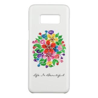 Capa Case-Mate Samsung Galaxy S8 Flores do arco-íris da aguarela