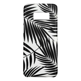 Capa Case-Mate Samsung Galaxy S8 Folha preta havaiana das palmas de Kona tropical