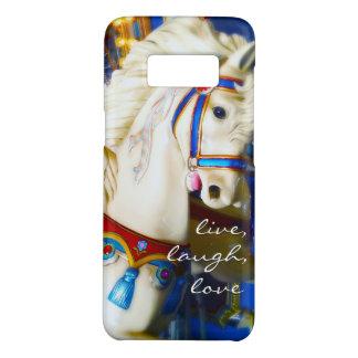 """Capa Case-Mate Samsung Galaxy S8 """"Foto branca do cavalo do carrossel das citações"""