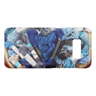 Capa Case-Mate Samsung Galaxy S8 Fotografia bonito do coração azul colorido do