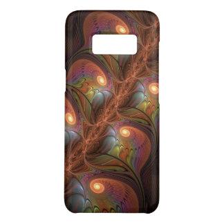 Capa Case-Mate Samsung Galaxy S8 Fractal moderno abstrato fluorescente colorido de