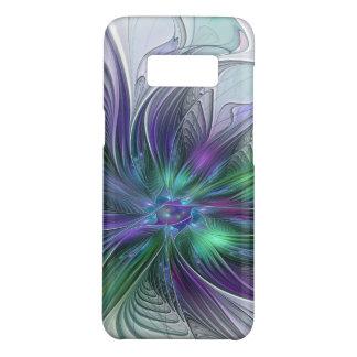 Capa Case-Mate Samsung Galaxy S8 Fractal moderno da arte abstracta da flor verde
