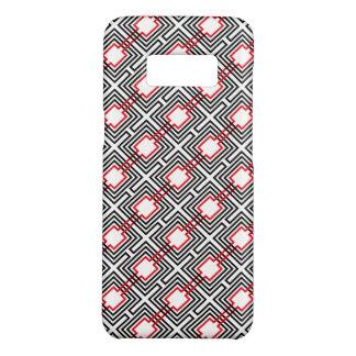 Capa Case-Mate Samsung Galaxy S8 Geométrico vermelho & branco preto