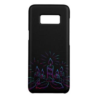 Capa Case-Mate Samsung Galaxy S8 Grinalda elegante do Natal e velas do preto do
