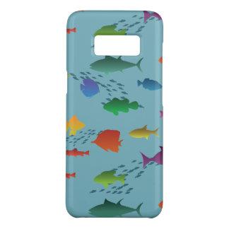 Capa Case-Mate Samsung Galaxy S8 Grupo colorido de peixes subaquáticos
