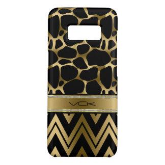 Capa Case-Mate Samsung Galaxy S8 Impressão & Chevron pretos & Glam do leopardo do