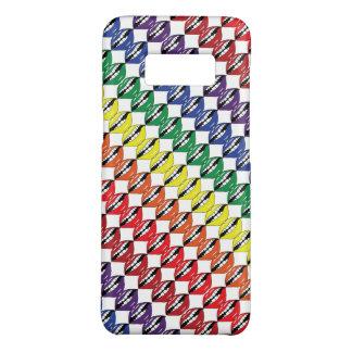 Capa Case-Mate Samsung Galaxy S8 Inclinação branca do fundo dos lábios espertos do
