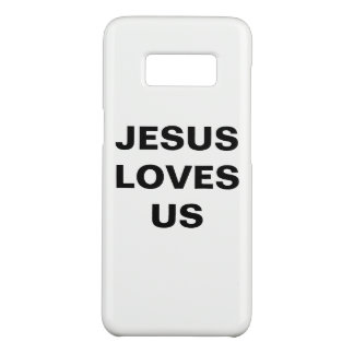 "Capa Case-Mate Samsung Galaxy S8 ""Jesus ama-nos"" caixa da galáxia S8 de Samsung"