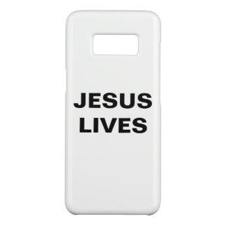 """Capa Case-Mate Samsung Galaxy S8 """"Jesus vive"""" caixa da galáxia S8 de Samsung"""