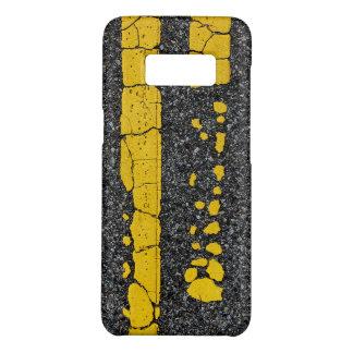 Capa Case-Mate Samsung Galaxy S8 Linha amarela dobro deteriorada