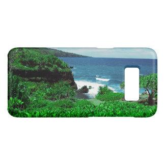 Capa Case-Mate Samsung Galaxy S8 Linha costeira tropical havaiana com plantas