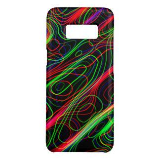 Capa Case-Mate Samsung Galaxy S8 Linhas curvadas coloridos de néon