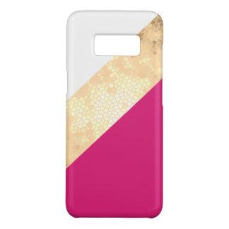 Capa Case-Mate Samsung Galaxy S8 listras claras elegantes do branco do rosa do ouro