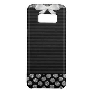 Capa Case-Mate Samsung Galaxy S8 Listras pretas e cinzentas com arco na caixa da