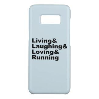 Capa Case-Mate Samsung Galaxy S8 Living&Laughing&Loving&RUNNING (preto)