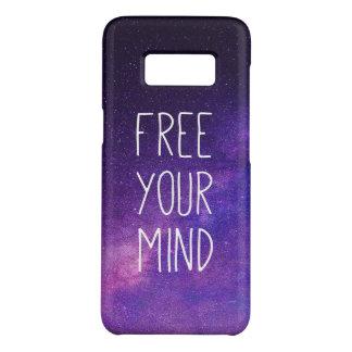 """Capa Case-Mate Samsung Galaxy S8 """"Livre céu nocturno do azul das citações da sua"""