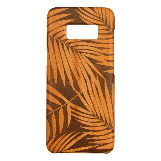 Capa Case-Mate Samsung Galaxy S8 Madeira havaiana de Koa do falso da folha das