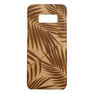 Capa Case-Mate Samsung Galaxy S8 Madeira havaiana do bordo do falso da folha das