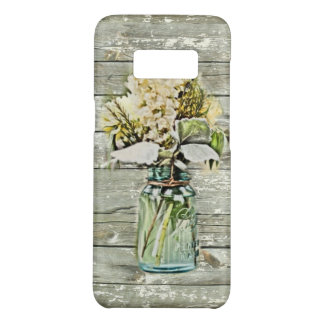 Capa Case-Mate Samsung Galaxy S8 madeira rústica chique do celeiro do wildflower do