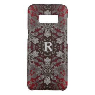 Capa Case-Mate Samsung Galaxy S8 mandala vermelha do renascimento e preta metálica