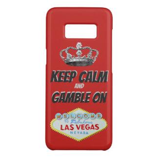 Capa Case-Mate Samsung Galaxy S8 Mantenha a boa sorte calma de Las Vegas