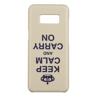 Capa Case-Mate Samsung Galaxy S8 MANTENHA A CALMA E cinzas lançadas CARRY ON