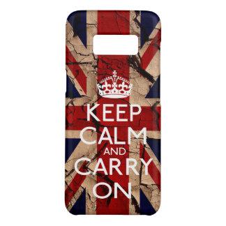 Capa Case-Mate Samsung Galaxy S8 Mantenha a calma e continue o vintage sujo Reino
