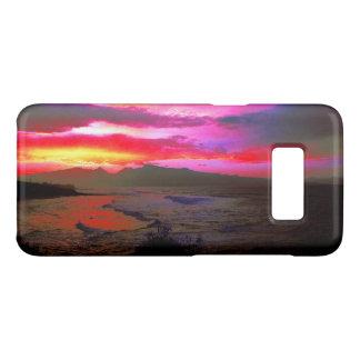 Capa Case-Mate Samsung Galaxy S8 Mar ventoso da ilha do por do sol tropical