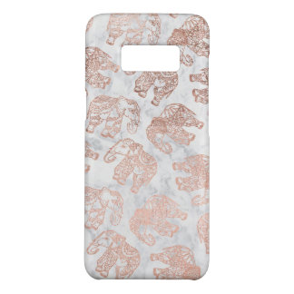 Capa Case-Mate Samsung Galaxy S8 Mármore cor-de-rosa do branco dos elefantes de