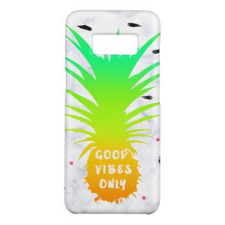 Capa Case-Mate Samsung Galaxy S8 mármore tropical do branco do abacaxi do verão