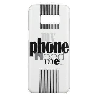 Capa Case-Mate Samsung Galaxy S8 Meu telefone precisa-me! em B&W