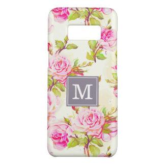 Capa Case-Mate Samsung Galaxy S8 Monograma cor-de-rosa velho Samsung C do teste