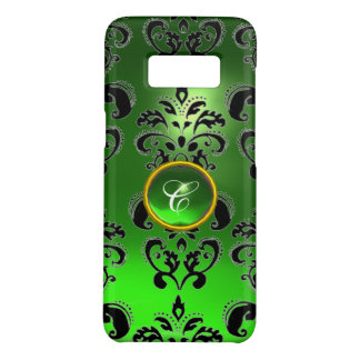 Capa Case-Mate Samsung Galaxy S8 MONOGRAMA da GEMA do DAMASCO do PRETO do VERDE