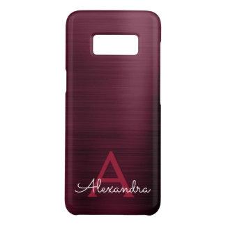 Capa Case-Mate Samsung Galaxy S8 Monograma de aço inoxidável moderno roxo de