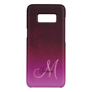 Capa Case-Mate Samsung Galaxy S8 Monograma de Borgonha Ombre do rosa quente