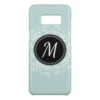 Capa Case-Mate Samsung Galaxy S8 Monograma floral azul do costume da grinalda da