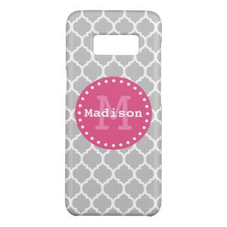 Capa Case-Mate Samsung Galaxy S8 Monograma marroquino da estrutura do rosa do