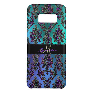 Capa Case-Mate Samsung Galaxy S8 Monograma metálico Glam moderno do damasco do